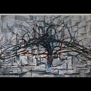 Horizontal tree Piet Mondrian 1911 Dutch print